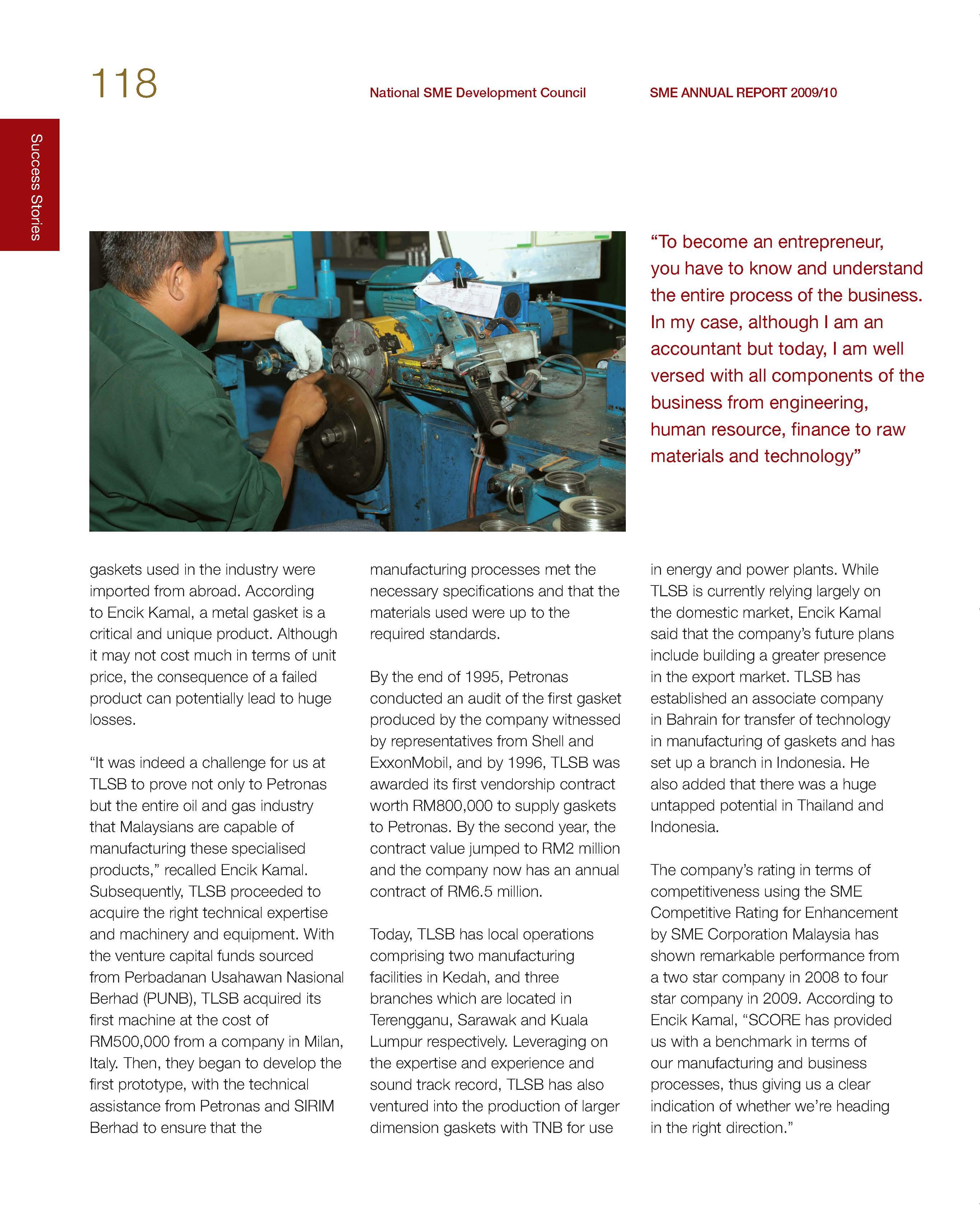 SME Corporation Malaysia - SME Annual Reports - Annual