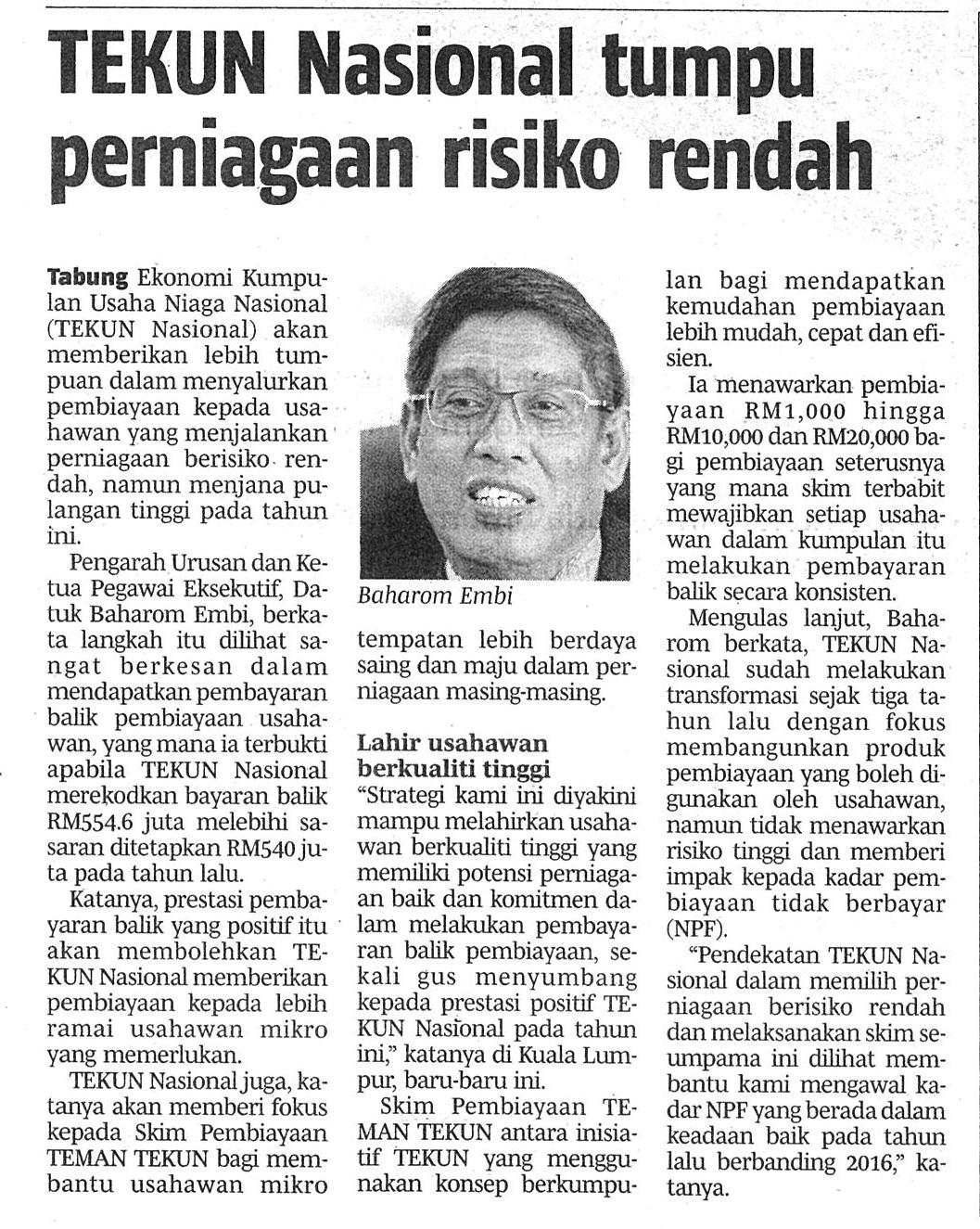 Sistem perdagangan risiko rendah